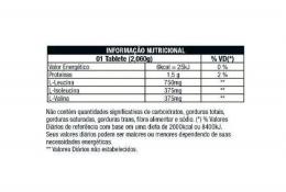 BCAA 1,5G (60 TABS) - TABELA NUTRICIONAL